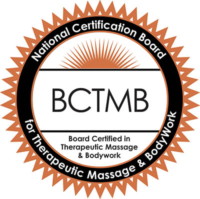 Certified by the National Certification Board Of Therapeutic Massage and Bodywork (NCBTMB)